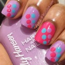 Girly polka dots