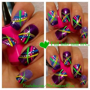 FUN SUMMER NAIL ART FOR BEGINNERS ABSTRACT NEON https://www.youtube.com/watch?v=6U78YlFfeA4