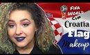 Croatian Flag Inspired Makeup Tutorial -FIFA World Cup- (NoBlandMakeup)