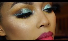 Pale Mint Glitter  | New Years Makeup Tutorial
