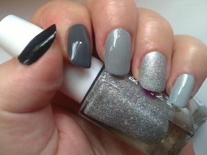 Black to grey
