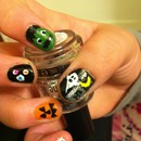 Halloween mani, inspired by luxi z
