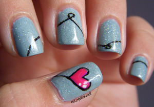 A Valentine's Day mani! http://thepolishwell.blogspot.com/2012/02/nail-ideas-heart-strings.html