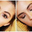 White Eyeliner with a Brown Smokey Eye Makeup Tutorial