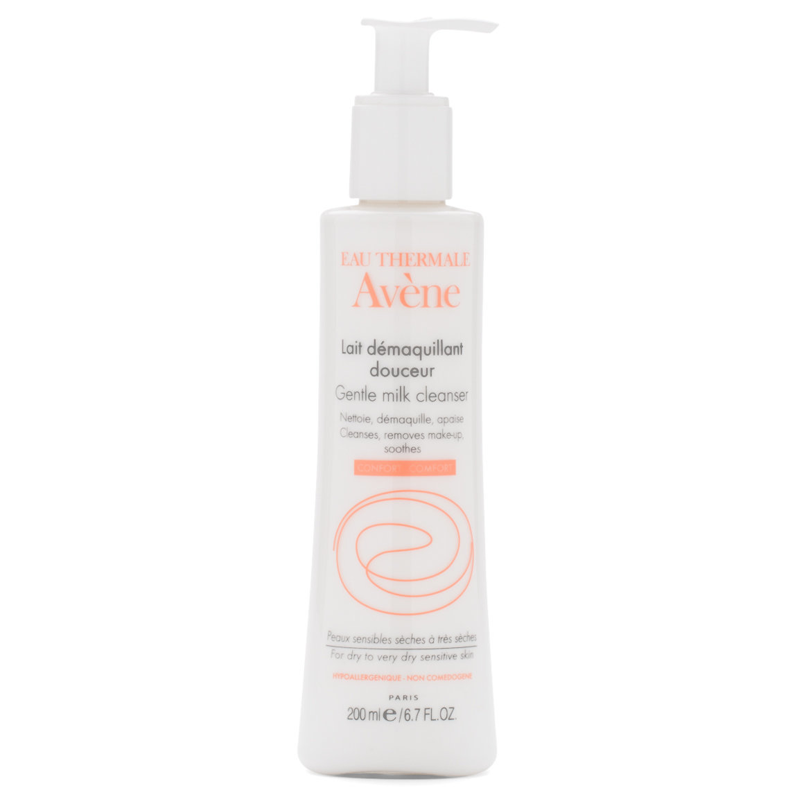 Eau Thermale Avène Gentle Milk Cleanser 200 ml product swatch.