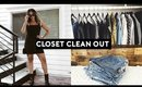 CLEAN WITH ME! CLOSET DECLUTTER + MOTIVATION AND TIPS 2018