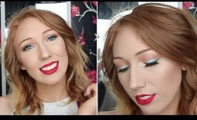 Red + Green Christmas Makeup Tutorial! EASY & FUN!