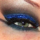 Blue and Black Glitter Look!