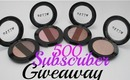 500 Subscriber/Thanksgiving Giveaway!