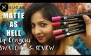 Swatch & Review | Sugar MATTE AS HELL Lip Crayons | *NEW LAUNCH*