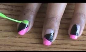 Color-Blocked Nails