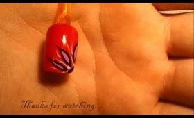 Nail Design - Howto: Corner Flower