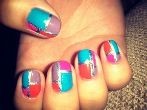 inspired by Sally Hansen's version of color block!