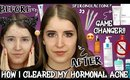 HOW I CLEARED MY SKIN FAST! HORMONAL ACNE SKINCARE ROUTINE