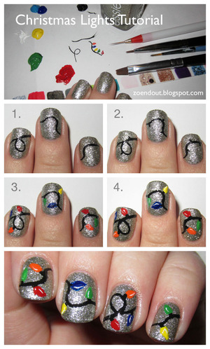 http://zoendout.blogspot.com/2012/12/christmas-lights-nails-tutorial.html