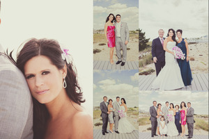 Joanna, my friend, team member and client! I was honored to provide her with hair & makeup services for her Gold Coast wedding in Montauk, NY