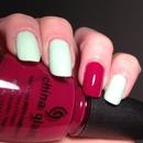 China Glaze Re-Fresh Mint & Exotic Cranberry