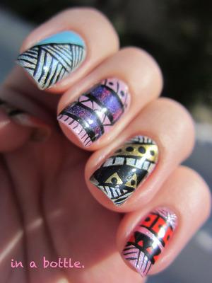 Tribal nails @gemsinabottle