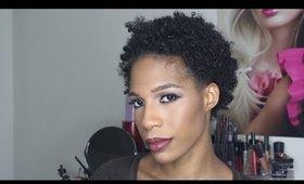 Plum Eye Bold Lip Makeup Tutorial