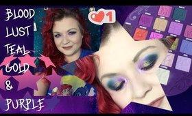 Blood Lust Look 2 - Teal and Purple eyeshadow look REUPLOAD