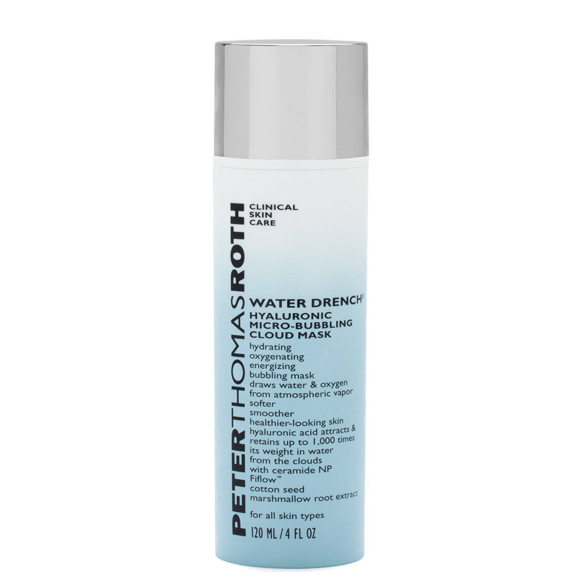 Peter Thomas Roth Water Drench Hyaluronic Micro-Bubbling Cloud Mask product smear.