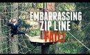 EMBARRASSING ZIP LINE FAIL! | BeautyCreep AD