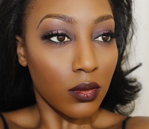 A nice, easy fall look. Lipstick is Riri <3s MAC Talk that Talk. Lashes are MAC 35s and Ardell 113 stacked.