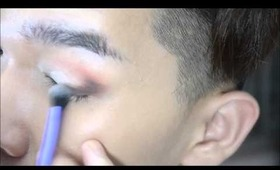 Soft Pink-Brown Smoky Eye Makeup Tutorial