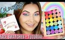 COLOURPOP RAINBOW + STRAWBERRY COLLECTION FACE SWATCHES + TUTORIAL