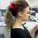 Love is in the air contest, Hair done by team, Make-up done by me.