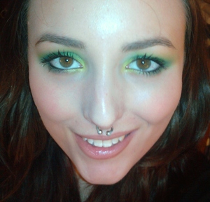Fun green look I did with Sugarpill and MAC 9/20/2011