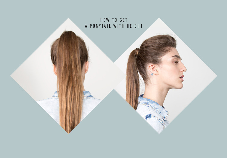 The Secret To Getting More Volume In Your Ponytail Beautylish