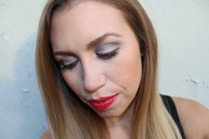 Its not the Holidays without a Glossy Red Lip!  Full post including more photos & step by step tutorial --> http://livingaftermidnite.blogspot.com/2012/12/mark-makeup-monday-cha-cha.html