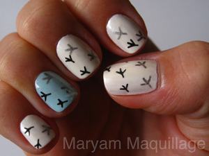 wintry nails http://www.maryammaquillage.com/2011/12/tracks-on-my-snow-nails.html