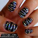 Zebra Glam Nails