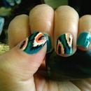 Cute ikat nails <3