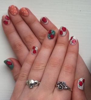 My latest nail design :)