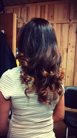 Ombré brown to light brown