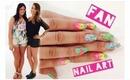 Fan Nail Art