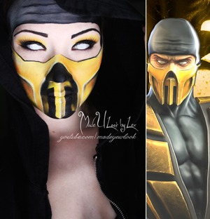 So although we are right in the middle of the NYX Face Awards, I am still going to continue to do my regular looks I am currently obsessed with my Xbox. Needless to say, I am playing Mortal Kombat all the time. You guys asked for it, so here is Scorpion! Dont forget to vote for Madeyewlook in the Nyx Face Awards!! http://www.youtube.com/madeyewlook, http://www.facebook.com/madeulookbylex