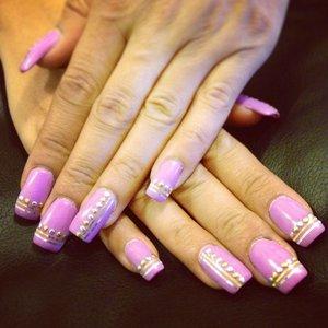 Moms nails what do u think xxxx  ❤️ me x