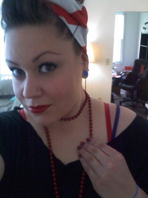 USA!!! One of my looks during World Cup 2010