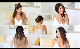 5 Easy One Minute Heatless Hairstyles | Luxy Hair