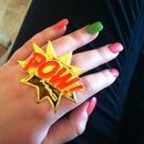 Green & Pink Nails