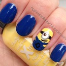 despicable me minion nails!