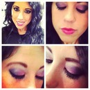 hot pink smokey eye