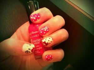 Hello Kitty has been my hero ever since my daddy bought me a jewelry-making kit when I was eight. Of course I'm going to put her on my nails!