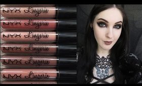 NYX Lip Lingerie Swatches + Review | ALL 12 SHADES