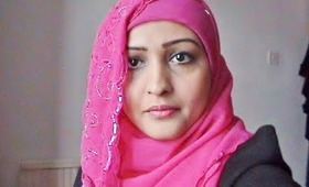 Hijab Tutorial no 6, Unique and Easy Pinky Scarf