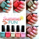 Barielle Summer Fun (2012) collection swatches